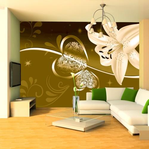 Fotomurale - Giglio in verde - Quadri e decorazioni