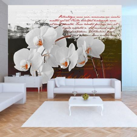 Fotomurale - Diario e orchidea - Quadri e decorazioni