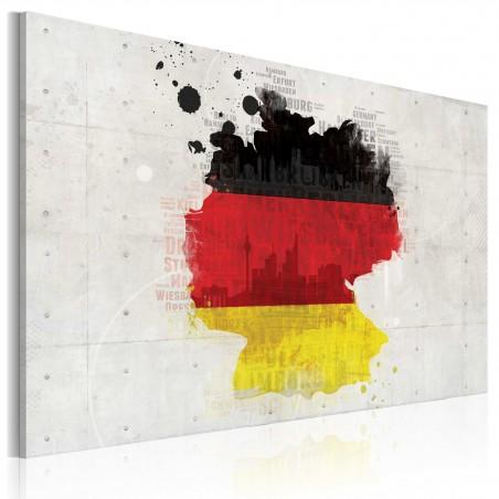 Quadro - Mappa della Germania - Quadri e decorazioni