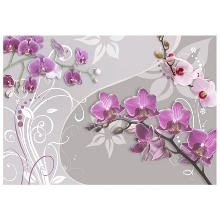 Fotomurale - Volo di orchidee porpora - Quadri e decorazioni