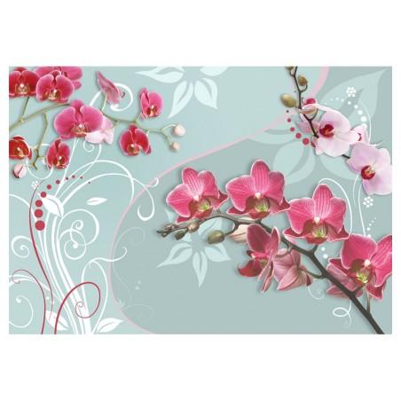 Fotomurale - Orchidee rosa- una variazione II - Quadri e decorazioni