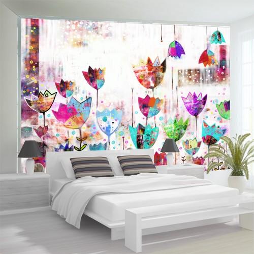 Fotomurale - Tulipani variopinti - Quadri e decorazioni