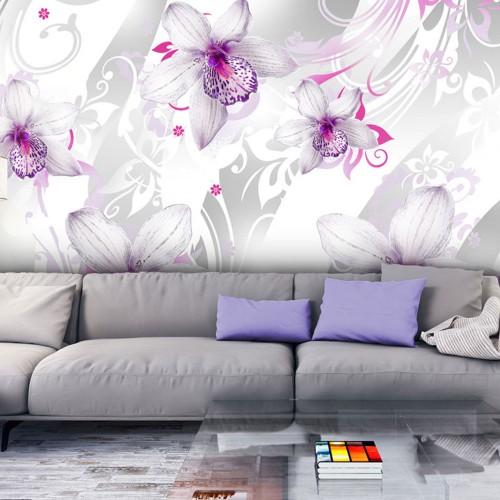 Fotomurale - Suoni della finezza - color argento - Quadri e decorazioni