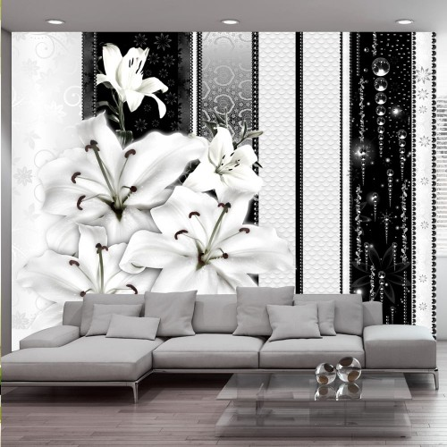Fotomurale - Gigli piangenti in bianco - Quadri e decorazioni