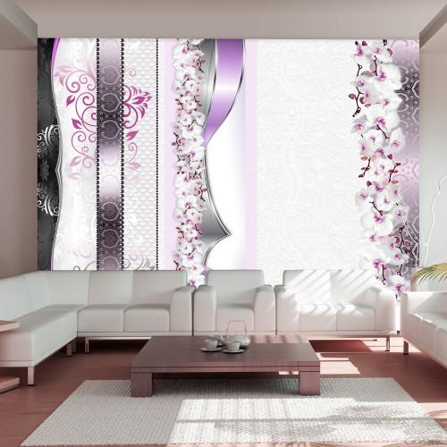 Fotomurale - Parata di orchidee in viola - Quadri e decorazioni