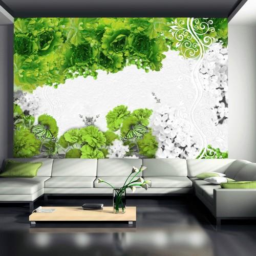 Fotomurale - Colori di primavera: verde - Quadri e decorazioni
