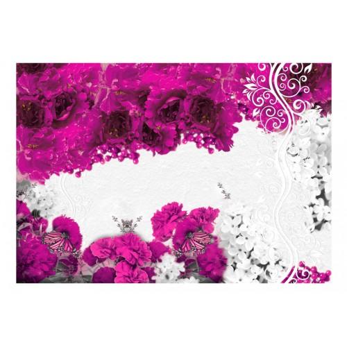 Fotomurale - Colori di primavera: fuchsia - Quadri e decorazioni