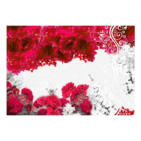 Fotomurale - Colori di primavera: rosso - Quadri e decorazioni
