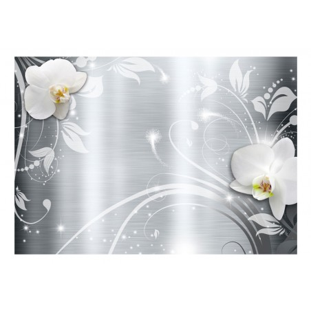 Fotomurale - Orchids on steel - Quadri e decorazioni