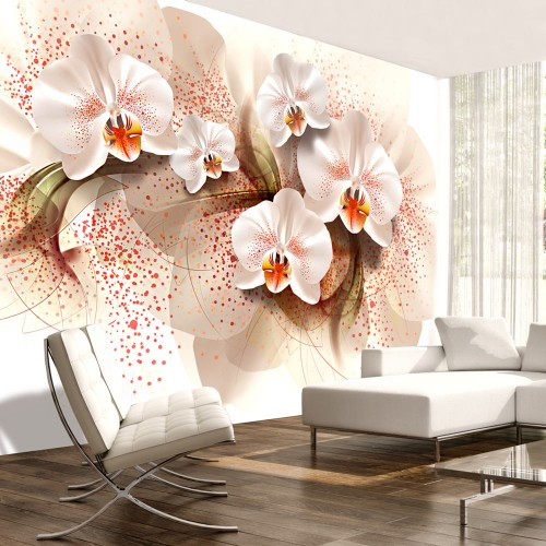Fotomurale - Pale yellow orchids - Quadri e decorazioni