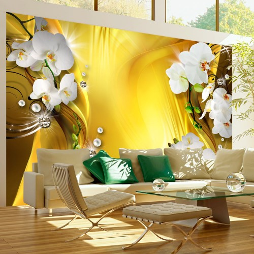 Fotomurale - Orchid in Gold - Quadri e decorazioni