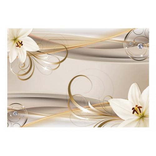 Fotomurale - Lilies and The Gold Spirals - Quadri e decorazioni