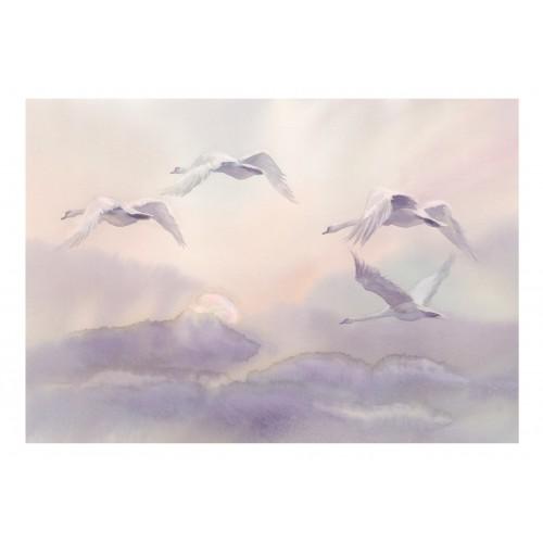 Fotomurale - Flying Swans - Quadri e decorazioni