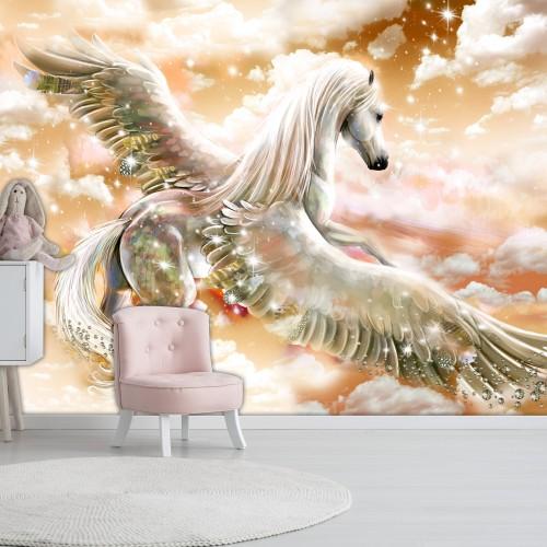 Fotomurale - Pegasus (Orange) - Quadri e decorazioni