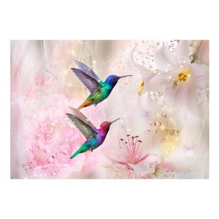 Fotomurale - Colourful Hummingbirds (Pink) - Quadri e decorazioni