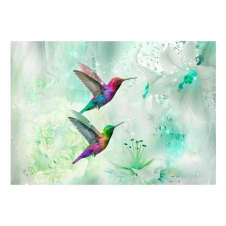 Fotomurale - Colourful Hummingbirds (Green) - Quadri e decorazioni