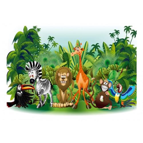 Fotomurale - Jungle Animals - Quadri e decorazioni