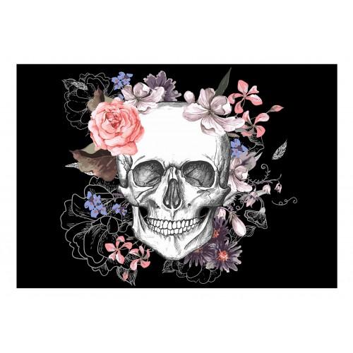 Fotomurale - Skull and Flowers - Quadri e decorazioni