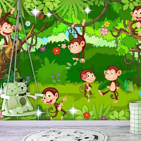 Fotomurale - Monkey Tricks - Quadri e decorazioni