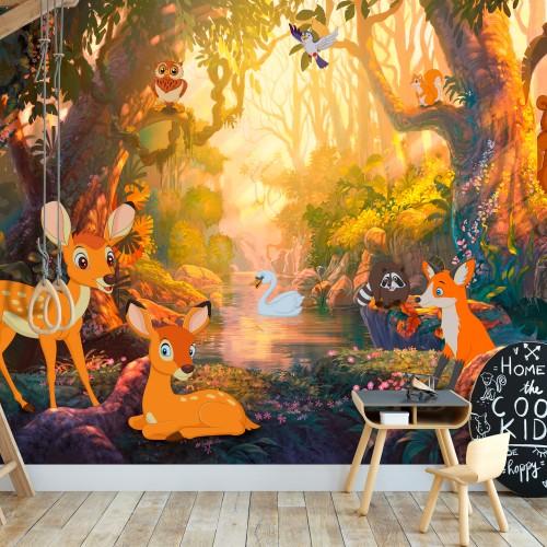 Fotomurale - Animals in the Forest - Quadri e decorazioni