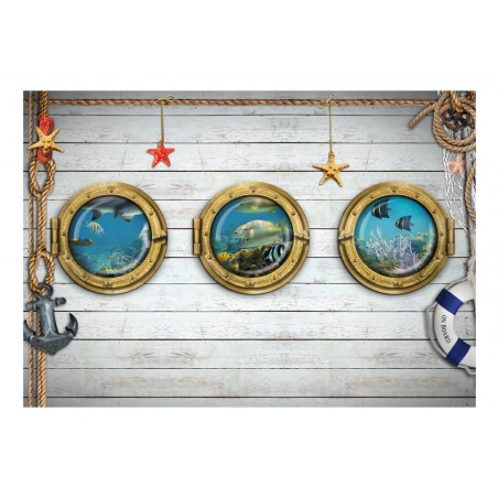 Fotomurale - Tre oblò - Quadri e decorazioni