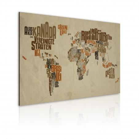 Quadro - Mappa del Mondo (lingua tedesca) - Quadri e decorazioni