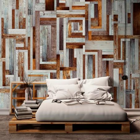 Fotomurale - Labirinto di tavole di legno - Quadri e decorazioni