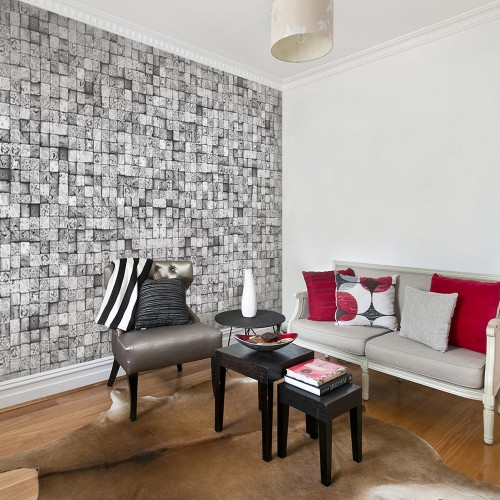 Fotomurale - Sfondo grigio - Quadri e decorazioni