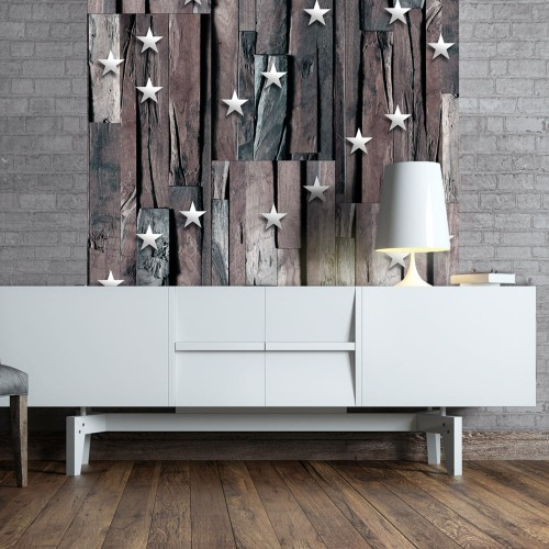 Fotomurale - Stars on Wood - Quadri e decorazioni