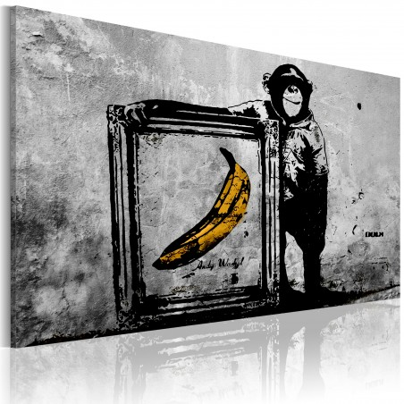 Quadro - Inspired by Banksy - black and white - Quadri e decorazioni