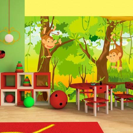 Fotomurale - giungla - scimmie - Quadri e decorazioni