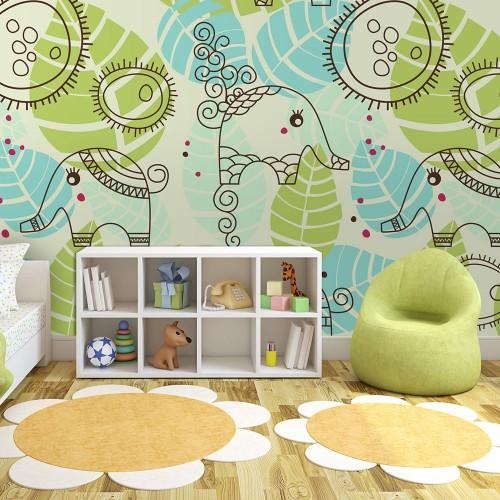 Fotomurale - elefanti (per bambini) - Quadri e decorazioni