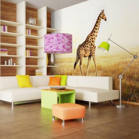 Fotomurale - giraffa - passeggiata - Quadri e decorazioni