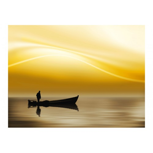 Fotomurale - Fishing at sunset - Quadri e decorazioni