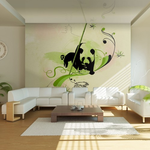 Fotomurale - Un panda nella foresta di bambù - Quadri e decorazioni