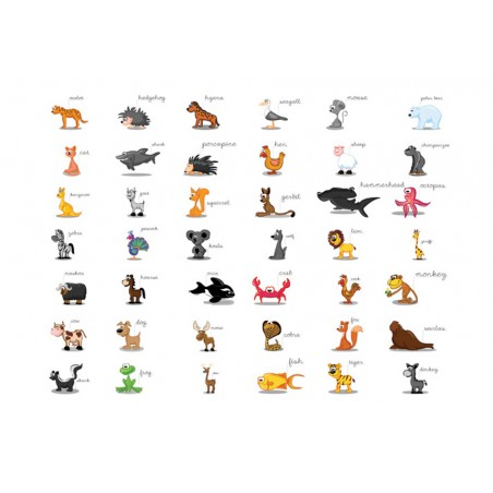Fotomurale - Learning by playing (animals) - Quadri e decorazioni