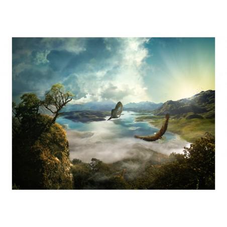 Fotomurale - Volo sopra il lago - Quadri e decorazioni