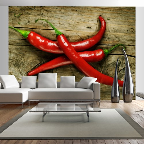 Fotomurale - Spicy chili peppers - Quadri e decorazioni