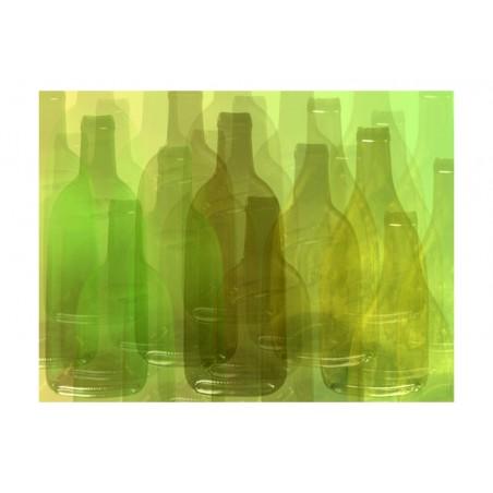 Fotomurale - Bottiglie verdi - Quadri e decorazioni