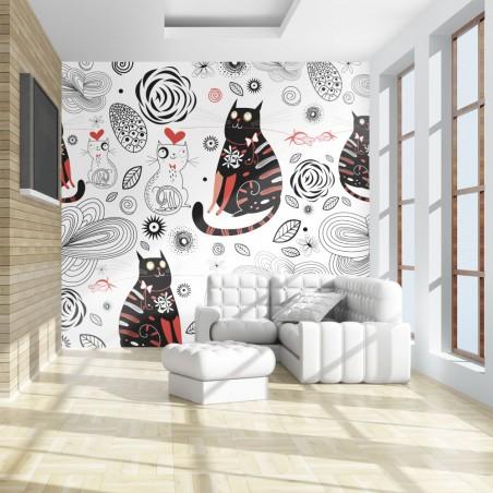 Fotomurale - Gatti innamorati - Quadri e decorazioni