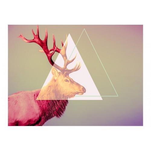 Fotomurale - deer (graphic pattern) - Quadri e decorazioni
