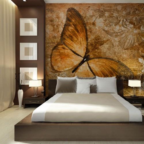 Fotomurale - butterfly (sepia) - Quadri e decorazioni