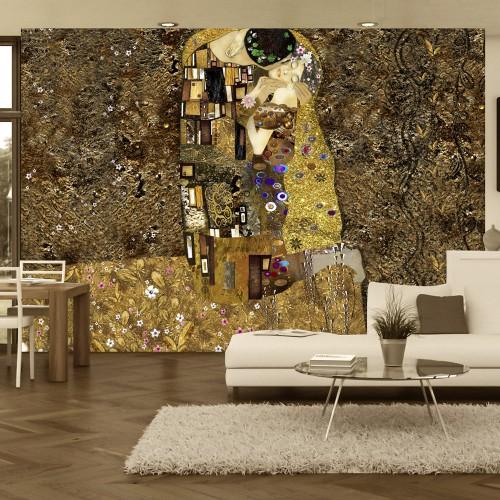 Fotomurale - Klimt inspiration - Golden Kiss - Quadri e decorazioni