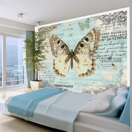 Fotomurale - Cartolina con farfalla - Quadri e decorazioni