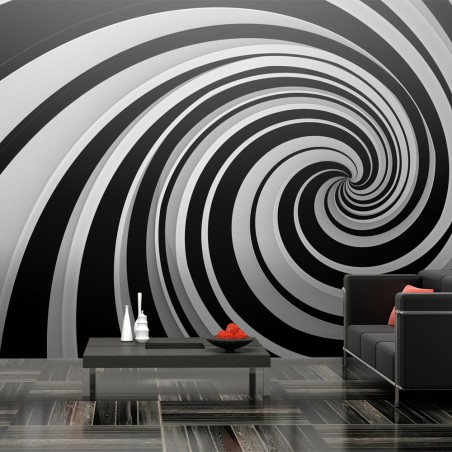 Fotomurale XXL - Black and white swirl - Quadri e decorazioni