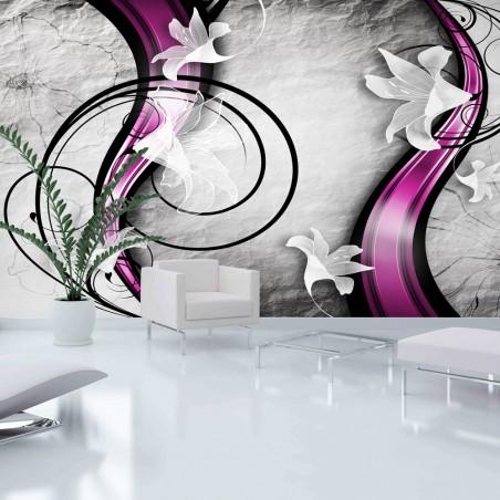 Fotomurale XXL - Flowery Ribbon - Quadri e decorazioni