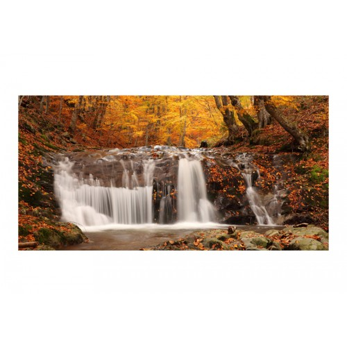 Fotomurale XXL - Autumn landscape: waterfall in forest - Quadri e decorazioni