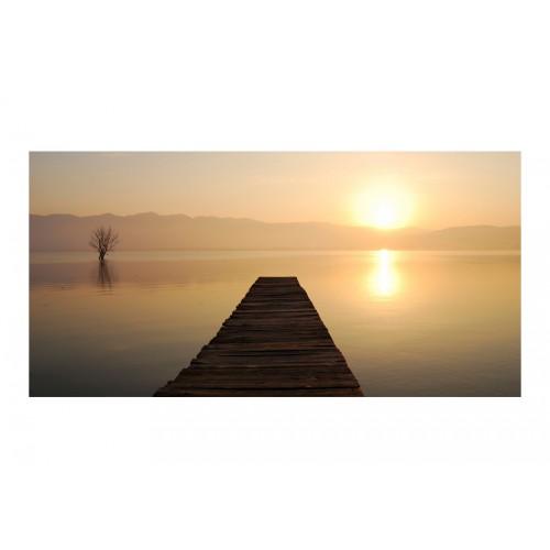 Fotomurale XXL - ponteggio, lago, tramonto... - Quadri e decorazioni
