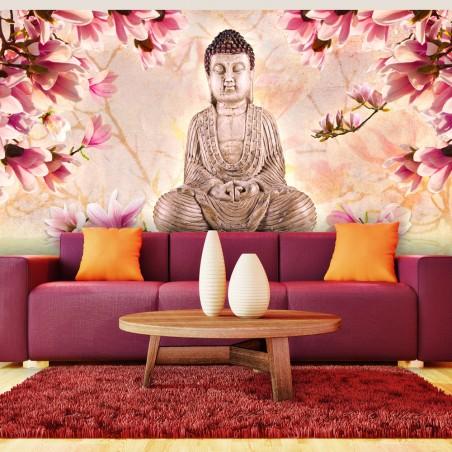 Fotomurale XXL - Buddha e magnolia - Quadri e decorazioni