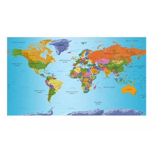 Fotomurale XXL - World Map: Colourful Geography II - Quadri e decorazioni